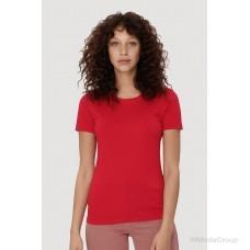 Классическая футболка HAKRO 127 красного цвета для женщин