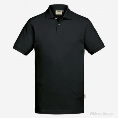 Мужская поло с короткими рукавами HAKRO GOTS ORGANIC 831 черная