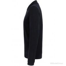 Рубашка-поло HAKRO 820 REGULAR FIT с длинным рукавом черная