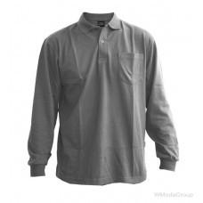Рубашка-поло WURTH с длинными рукавами серая