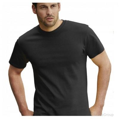 Мужская футболка плотная из хлопка Черная