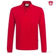 Футболка-поло с длинным рукавом и карманом HAKRO 809 красная
