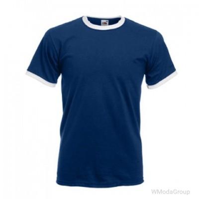 Мужская футболка с манжетами Valueweight Ringer темно-синяя