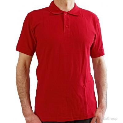 Классическая красная рубашка-поло MODYF