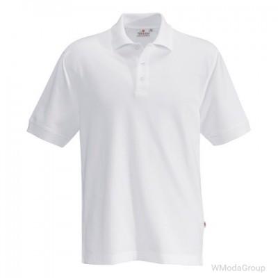 Классическая рубашка-поло HAKRO белая