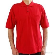 Красная рубашка-поло MODYF с накладным карманом