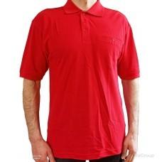 Красная рубашка-поло MODYF с врезным карманом