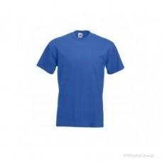 Мужская футболка плотная из хлопка Cиняя