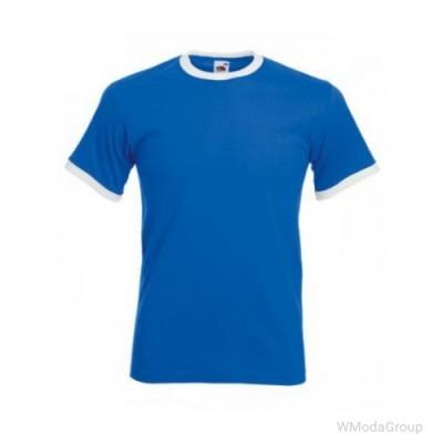 Мужская футболка с манжетами Valueweight Ringer синяя