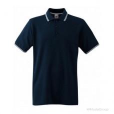 Мужское поло с полосками Premium темно-синее