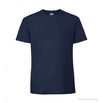 Мужская футболка плотная из хлопка темно-синяя