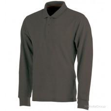 Рубашка-поло WURTH / MODYF JOB с длинными рукавами серая