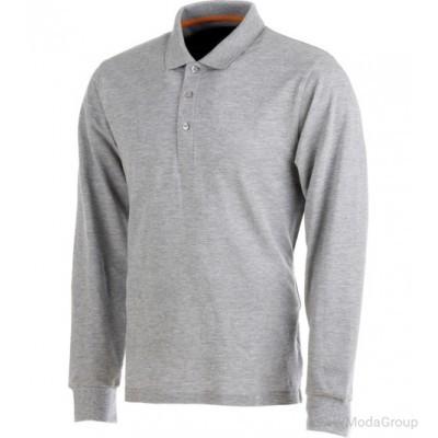 Рубашка-поло WURTH / MODYF JOB с длинным рукавом серая