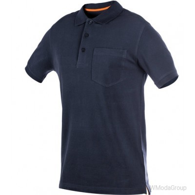 Рубашка-поло WURTH JOB с карманом темно-синяя