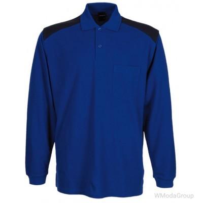 Рубашка-поло WURTH / MODYF с длинными рукавами JOB синяя