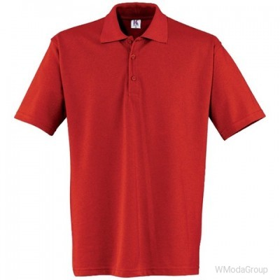 Рубашка-поло Kübler с коротким рукавом красная