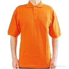 Рубашка-поло MODYF оранжевая с врезным карманом