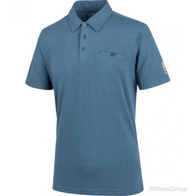 Рубашка-поло WURTH / MODYF NATURE синего цвета