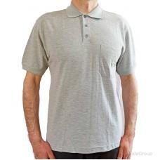 Серая рубашка-поло MODYF с накладным карманом