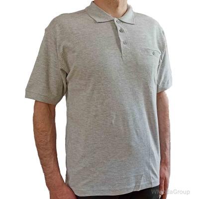 Серая рубашка-поло MODYF с врезным карманом