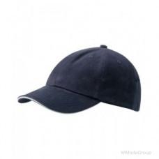 6-панельная сэндвич кепка Темно-Синий / Белый