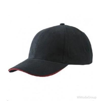 Бейсболка легкая Чёрный / Красный
