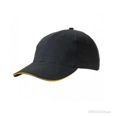 Бейсболка легкая Чёрный / Золотисто-Жёлтый