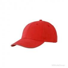 Бейсболка легкая Красный / Бежевый