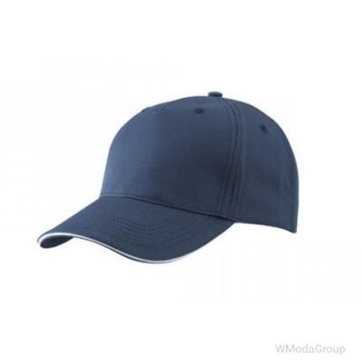 Бейсболка пятипанельная темно-синий