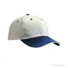 Бейсболка шестипанельная Тёмно-Синий / Белый