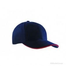 Бейсболка шестипанельная Тёмно-Синий / Красный
