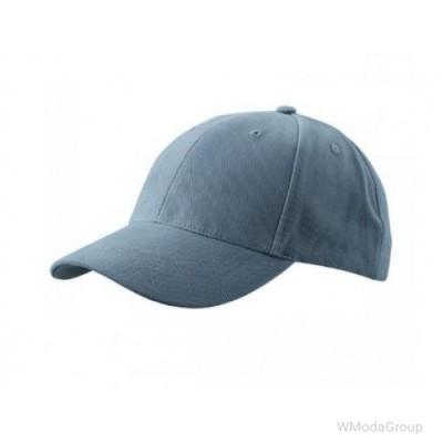 Классическая 6-панельная тёмно-серая кепка