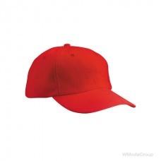 Классическая 6-панельная красная кепка