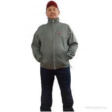 Брендированная легкая куртка ветровка WURTH серого цвета