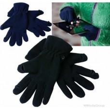 Перчатки флисовые touch-screen черные