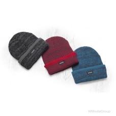 Теплая зимняя вязаная шапка + флис Vision Neo красная