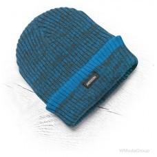 Теплая зимняя вязаная шапка + флис Vision Neo синяя