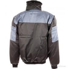 Теплая куртка трансформер Wurth/Modyf ALLROUND PLUS черная с серым