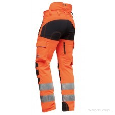 Штаны для защиты от пореза бензопилы AX-MEN EN20471, оранжевые