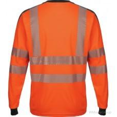Неоново-оранжевая рубашка WURTH / MODYF с длинными рукавами повышенной видимости