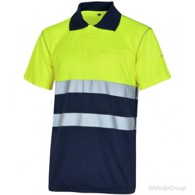 Поло WURTH / MODYF WORK HIGH VISIBILITY 1/2 желтый/темно-синий