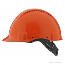 Защитная каска 3M™, Uvicator, штифтовый замок, с вентиляцией, пластиковая налобная лента, оранжевый цвет, G3000CUV-OR