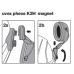 Защитная каска WURTH / UVEX Феос Алпайн белая с лицевым щитком и наушниками