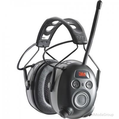3M WorkTunes Connect AM / FM радио / MP3 наушники с технологией Bluetooth - NRR 25 дБ, модель # 90542-3DC