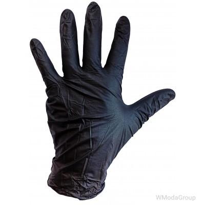 Перчатки WURTH нитриловые, усиленные Черные 100 шт. упаковка