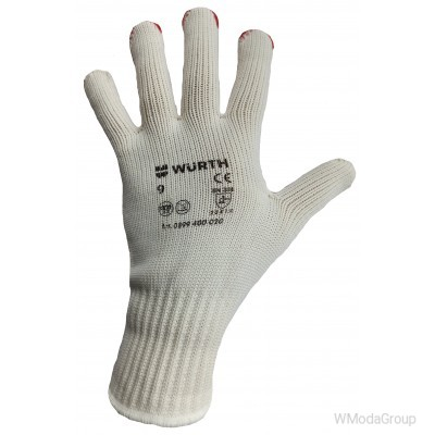 Усиленные вязаные перчатки WURTH с точечным виниловым покрытием