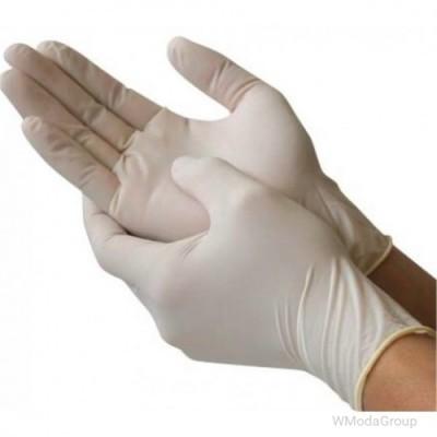 Одноразовые латексные перчатки, упаковка 100 пар.