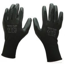 Перчатки HAND FLEX с дышащим верхом и защитным полиуретановым покрытием