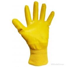 Перчатки WURTH yellow nitrile с нитриловым покрытием