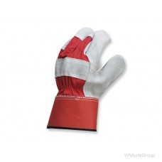 Спилковые перчатки с манжетой